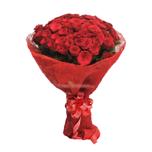 Speard Love 50 Red Roses Bunch